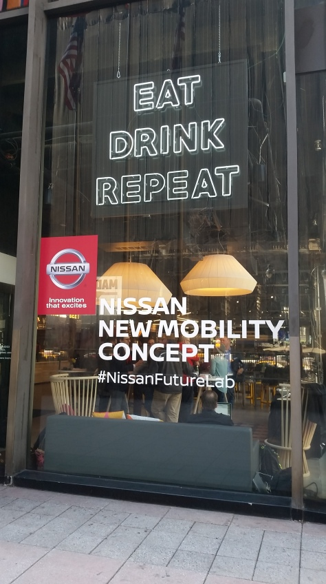 Nissan invited journalists to experience a new mobility concept vehicle.