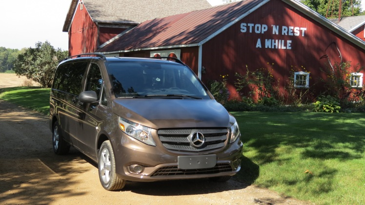 Mercedes-Benz Metris in rural Michigan.