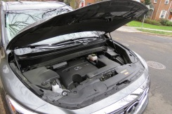 Infiniti's 3.5 6-cylinder engine under the muscular hood.
