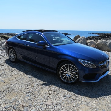 The 2017 Mercedes-Benz C-Class Coupe on the Maine Coast.