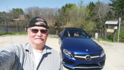 The 2017 Mercedes-Benz C-Class Coupe with author William West Hopper