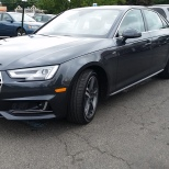 Audi A4 S Line a mid-sized sports sedan with Quattro All-Wheel Drive.