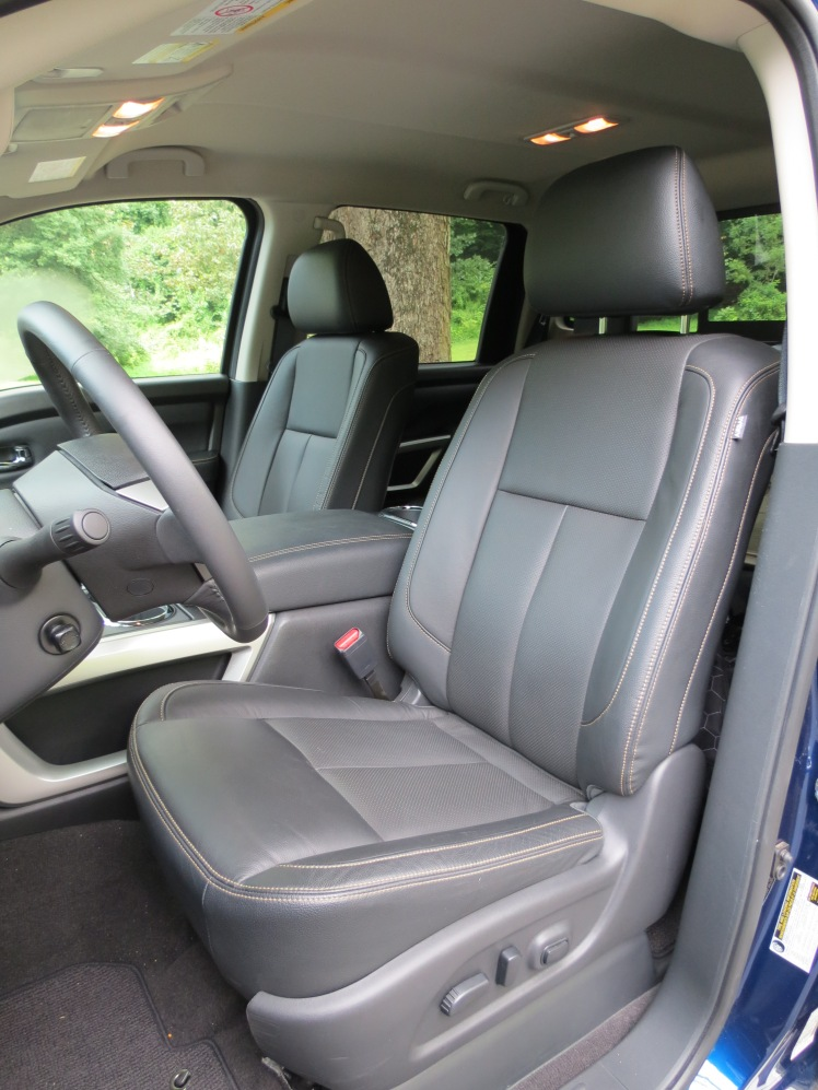 The Nissan Titan XD features Leather Captain's Chairs w/heated seats. 8-Way Powerd Driver Seat w/ Adjustable Lumbar, and 4-Way Power Passenger Seat.