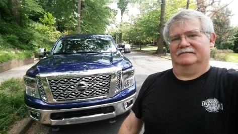 The author William West Hopper with the 2016 Nissan Titan XD SL 4WD CC Pickup.