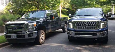 The Nissan Titan XD and the Ford F250 Heavy Duty are the same size.