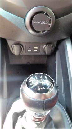 The Hyundai Veloster Turbo has a Six Speed with a B&M Racng Sport Shifter.