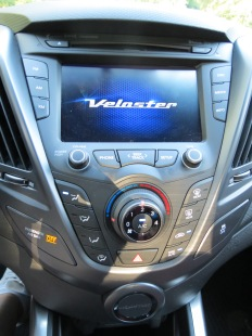 Hyundai Veloster has a 7 inch touch screen in the center stack.