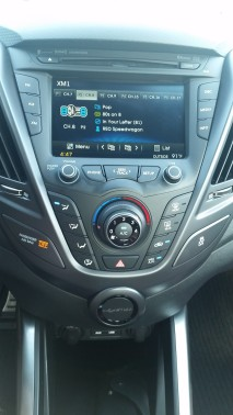 Sirus XM Radio is just one of the audio options on the Hyundai Veloster R-Spec.