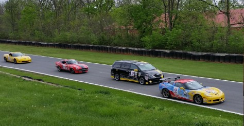 The Toyota Sienna competitively racing against serious race cars in the 2016 One Lap America Series at Summit Point Raceway