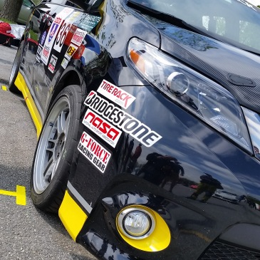 Toyota Sienna R-Tuned minivan during the 2016 One Lap America Serie