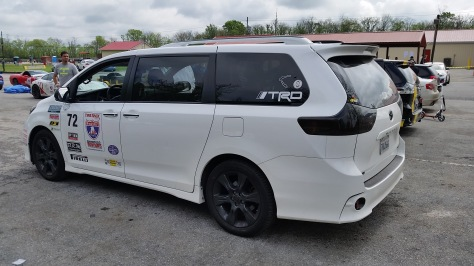 Toyota Sienna SE+ Sporting the TRD and all the One Lap America promotional stickers for 2016