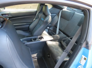 Subaru BRZ rear seats are in name only, leg room is not optimal.