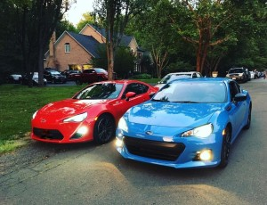 Fraternal Twins, Scion FRS & Subaru BRZ.