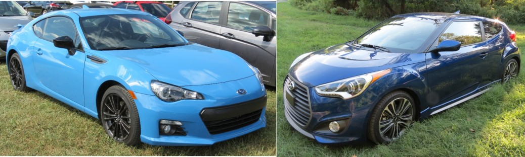 Two under $30K Sports Cars, the Subaru BRZ and the Hyundai Veloster.