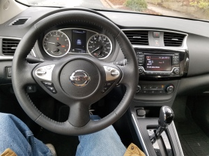 Nissan Sentra's dash is clear and easy to reach and understand.