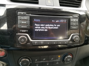 Nissan's NissanConnect Bluetooth systems connects the apps in your phone to the car's entertainment system.