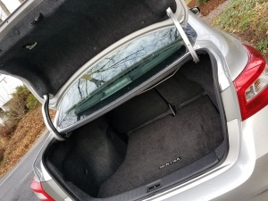 The Nissan Sentra had plenty of trunk space for all the gear you may want to haul.