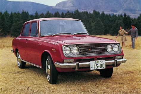 The Toyota Corona from the late 1960's and early 1970's.