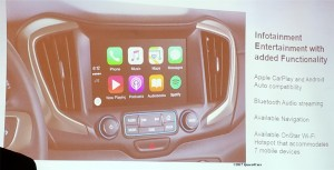 Apple Carplay and Android Auto are integrated into the 2018 GMC Terrain's advanced entertainment system.