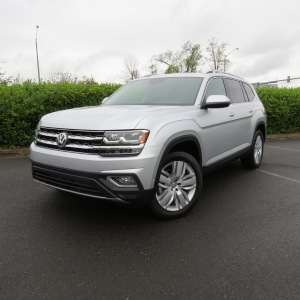 2018 Volkswagen Atlas SEL VR6 AWD in Reflex Silver/Black leather interior for $48,490.