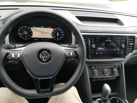The VW Atlas Dash has two well placed screens and easy to reach controls.