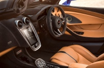McLaren 570S Spider's cockpit is clean focusing the driver on driving.