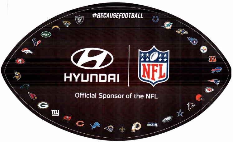 Hyundai, an official sponsor of the NFL.