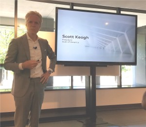 Mr. Scott Keogh presented the market performance of the the Audi Brand in 2017.