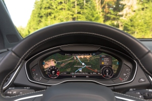 Audi has one of the most visually attractive dash screens providing vivid graphics.