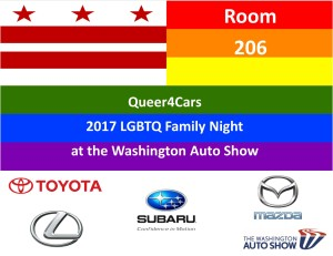 Queer4Cars at the Washington DC Auto Show in 2017