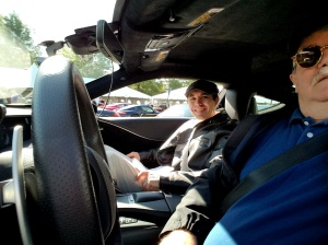 Chef Matt in the Navigators Seat of the Lexus LC500h