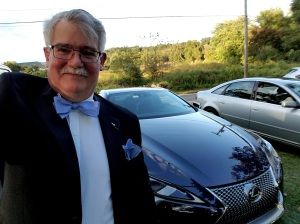 Author William West Hopper with the 2018 Lexus LC500H.