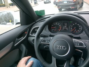 he Dashboard controls and switches on the Audi Q3 are easy to understand and navigate.