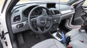 Audi's Q3 cockpit is well appointed and comfortable to be the driver in.