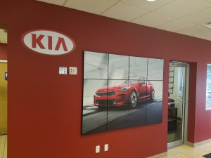 Kia Dealership Wall