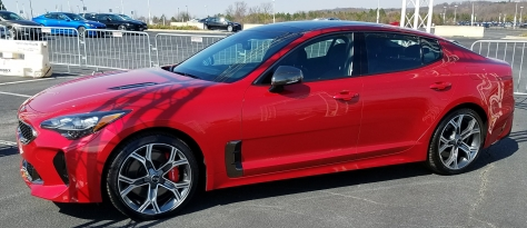 Red Kia Stinger