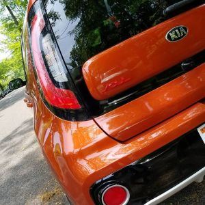 Kia Soul has a distinctive and effective tail light cluster.