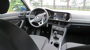 2019 VW Jetta S interior dash with 6-speed manual transmission