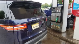 Land Rover Discovery at an Exxon Diesel Synergy Pump