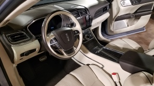 The cockpit for the Lincoln Continental.