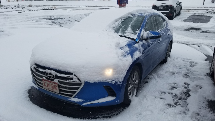 Snow Covered Hyundai Elantra