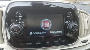 Fiat 500 Lounge Tech Screen BeatsAudio SiriusXM Radio