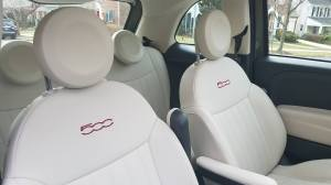 Fiat 500 Lounge Ivory Seat Option