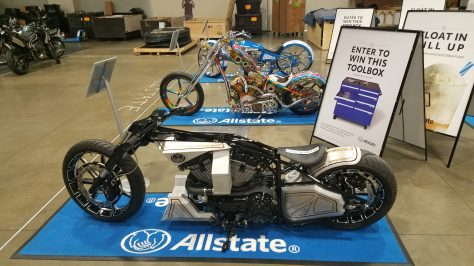 Allstate Booth had bikes and prizes as well as rootbeer floats