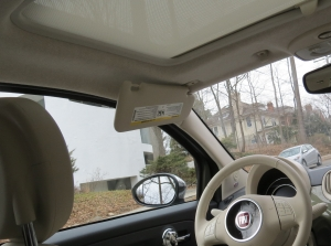 Fiat 500 Sunshade and visor