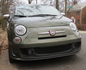 2018 Fiat 500 Lounge turbo in Olive