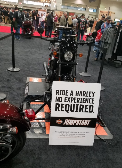 Harley Davidson had a ride experience that anyone could do.
