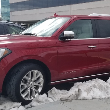 Ford Expedition Platinum Edition in ruby red metallic