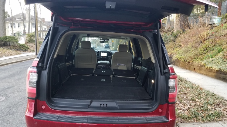 Ford Expedition with 2nd & 3rd-row seats folded down.
