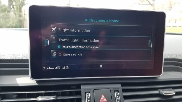 Audi Connect Subscription Expired